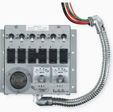 to change the power source while automatic switches detect the loss of power start the back up generator and switch over to the backup power feed