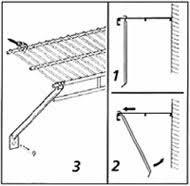 Rubbermaid Shelf Support Brace Organizeit Installing Wire Shelving