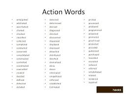 Action Verbs For Resumes Active Verbs Resume Action Verbs For