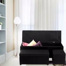 Image Is Loading StorageOttomanFauxLeatherSofaBenchFootRest Sofa Bench With Storage66