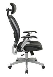 office leather chair. Amazon.com: Office Star OSP3680 Professional Airgrid Leather Chair, Black And Platinum: Kitchen \u0026 Dining Chair