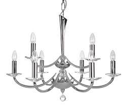 bahia chrome 9 light chandelier oaks lighting