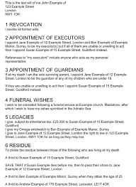 make a will online example last will and testament first page