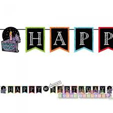happy birthday customized banners happy birthday customizable banner kit 1ct