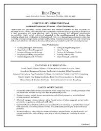 hospitality resume writing example page 1 writing objectives for resume