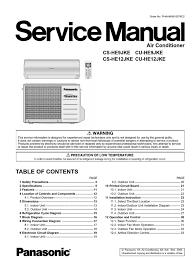 panasonic cs he9 12jke air conditioning hvac Us Motor Wiring Diagram at Motor Connection Diagram For Panasonic