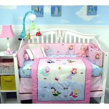 little mermaid crib set boutique mermaid baby nursery crib bedding with gray baby carrier 8 set little mermaid crib set