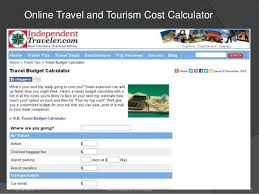 Travel Cost Calculator Tour Costing