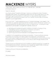 Example Of Application Cover Letter Job Application Cover Letter