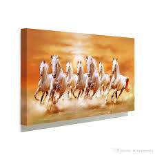 Wall Art Paintings For Living Room 2017 Famous White Horse Running Picture Canvas Painting Home Wall