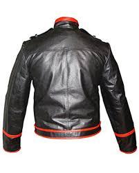 mens real black red leather rockstar fred mercury jacket wembley 86 fj1 3