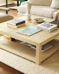 Parsons Square Coffee Table Blake Raffia Square Coffee Table Serena Lily