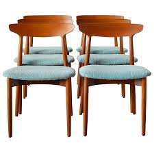six harry ostergaard danish teak dining chairs for randers at 1stdibs pertaining to inspirations 3 home dining room
