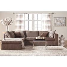 Serta Living Room Furniture Serta Upholstery Angora Casual Contemporary Sectional Sofa With