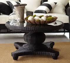 fantastic black round coffee table