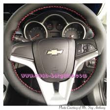 cruze steering wheel genuine leather cover wrap red stitches sample singapore