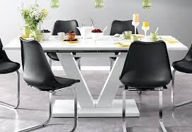 Esszimmertisch Weiss Hochglanz Ausziehbar Tisch Ansprechend Weis
