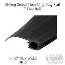 sliding door weather stripping. 7 foot roll of vinyl bug seal for sliding screen door - black weather stripping