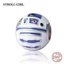 <b>StrollGirl</b> 925 silver beads robot charms with color enamel fit ...