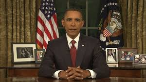 president oval office. VIDEO: President Obama Addresses The Nation Oval Office