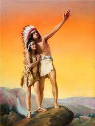 best people hiawatha images native americans from the song of hiawatha illustration by adelaide hiebel 1886 1968