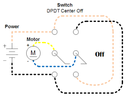 easiest way to reverse electric motor directions robot room lack of connections in a dpdt switch resulting in a turned off motor