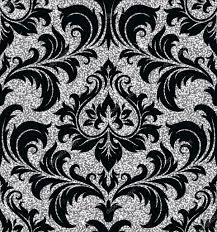 Floral Zilveren Behang Stockvector Sanyal 104385874
