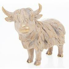 highland cow wall mounted wooden