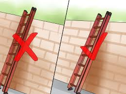 how to climb a ladder safely steps pictures wikihow use an extension ladder