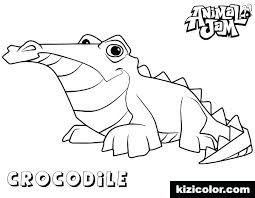 Crocodile Coloring Pages Page Prime Animal Jam Hunter Ilovezclub