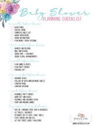Baby Shower Party Checklist Baby Shower Planning Checklist