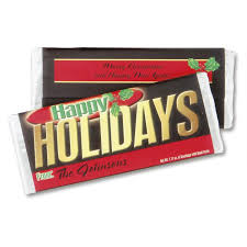 personalized chocolate bar wrappers happy holidays personalized candy bar wrappers