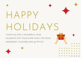 virtual holiday party invitations
