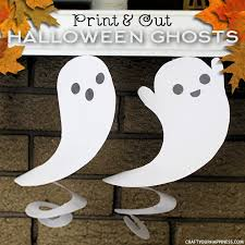 Need quick Halloween decorations? Grab our printables, some scissors or  X-acto knife
