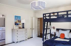 kids room with navy bunk beds