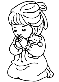 Coloring is a very useful hobby for kids. Children Praying Coloring Page Coloring Home