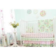 damask fl prints baby bedding mint pink crib set and light sets