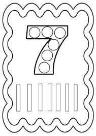 Chiffre 7 Colorier Ou Gommettes Imprimer En Fichier Pdf