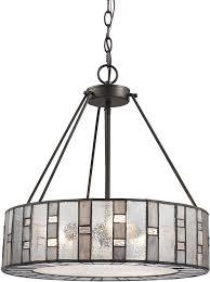 elk 70212 3 ethan modern tiffany bronze drum hanging pendant for elegant residence drum pendant chandelier plan
