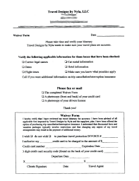 Credit Card Release Form Template Document Release Form Template