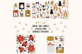 Christmas Seamless Print Template Vector Graphic By Byemalkan Creative Fabrica