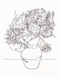 Small Picture Van gogh sunflowers coloring pages