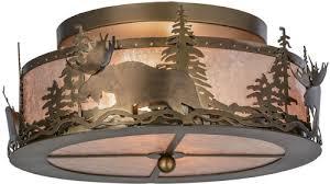 silver mica flush mount ceiling light