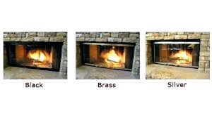 replacing fireplace doors gas fireplace cover replacements