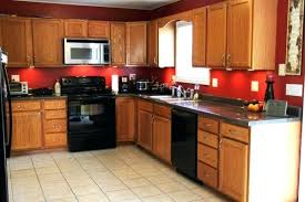 kitchen color ideas with oak cabinets and black appliances. Delighful Ideas Kitchen Wall Color With Oak Cabinets Colors Red Using  Honey And Throughout Kitchen Color Ideas With Oak Cabinets And Black Appliances