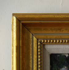 gold frame beaded inside