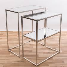 gin shu silver gilt leaf parisienne rectangular glass tables