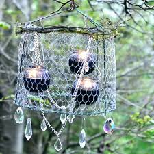 how to make an outdoor chandelier candle solar for