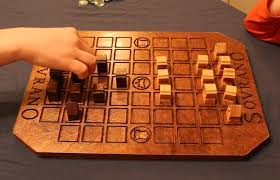 Wooden Strategy Games A fatherson project produced with 100% wooden components Analog 4