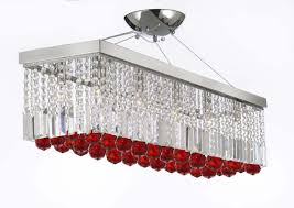 to enlarge 10 light 40 contemporary crystal chandelier rectangular